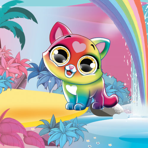 You You Little Kitties Rainbow